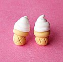 Vanilla Soft Serve Icecream Stud Earrings