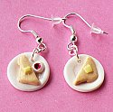 Butter and Jam Toast Breakfast Earrings