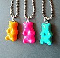 Rainbow Opaque Gummy Bear Necklace