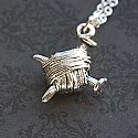 Knitters' Yarn Silver Necklace