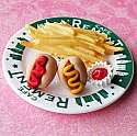 American Hot dog Stud Earrings