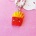 Kawaii Happy French Fries Necklace