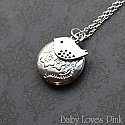 Sweet Bird Silver Locket Necklace
