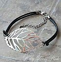 Silver Leaf Filigree Anklet