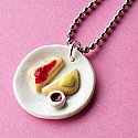 Butter and Jam Toast Breakfast Necklace