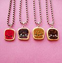 Kawaii Peanut Butter and Jelly Sandwich BFF Necklace - Set of 4